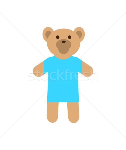 Stock photo: Teddy Bear Wearing Sweater Vector Illustration