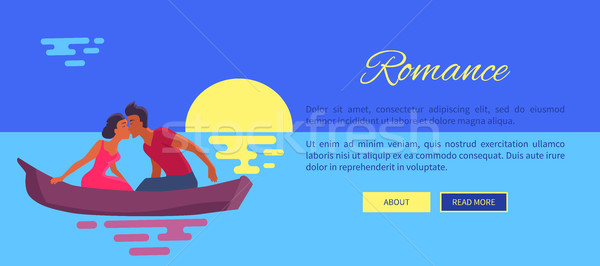 Casal amor roxo canoa teia bandeira Foto stock © robuart
