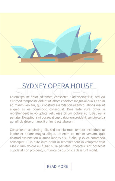 Sydney Opera House web página texto muestra titular Foto stock © robuart