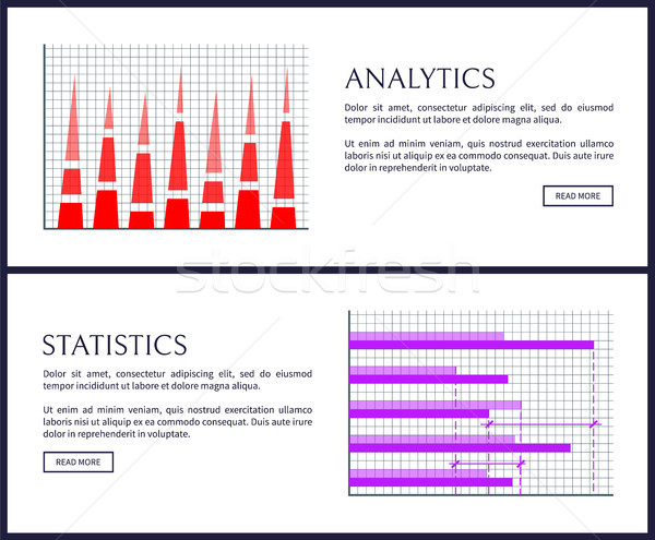 Analytics Statistics Pages Set Vector Illustration Stock photo © robuart