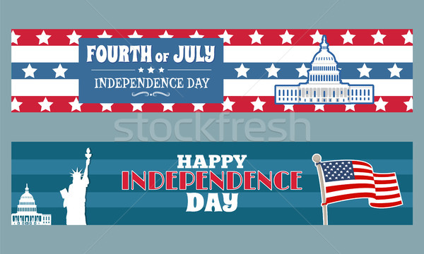 Fourth of July Independence Day Patriotic Posters Stock photo © robuart