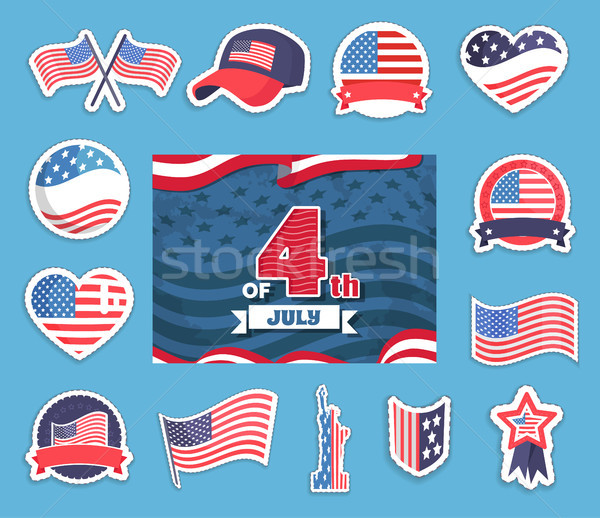 Fourth of July Independence Vector Illustration Stock photo © robuart