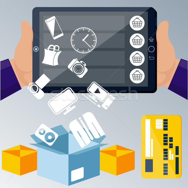 онлайн электронной коммерции технологий большой продажи Сток-фото © robuart