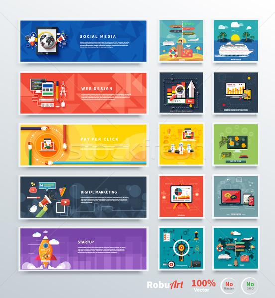 Vezetőség digitális marketing tervez analitika fejlesztés Stock fotó © robuart