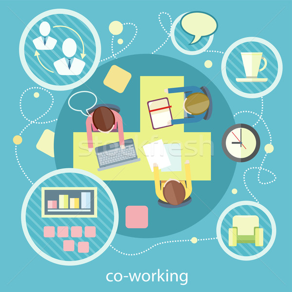 Coworking concept. Business meeting Stock photo © robuart