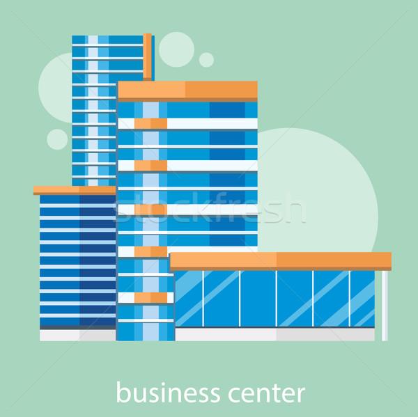 Modern business center Stock photo © robuart