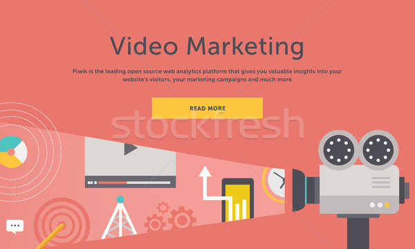 Video Marketing. Concept for Banner, Presentation Stock photo © robuart