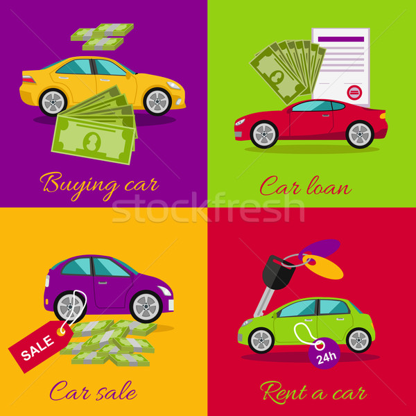 Concept of Buying Selling Rental Car Stock photo © robuart