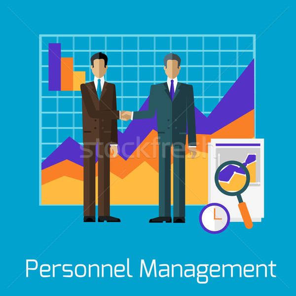 Personnel Management People Handshake Stock photo © robuart