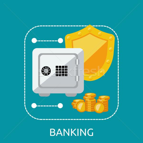 банковской безопасной защиту бизнеса Финансы деньги Сток-фото © robuart