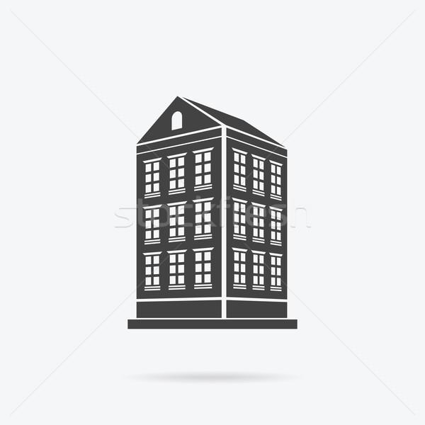 Wieżowce domu budynku ikona wieżowiec logo Zdjęcia stock © robuart
