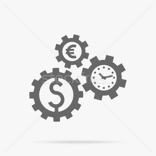 Tijd is geld business abstract ontwerp mechanisme Stockfoto © robuart