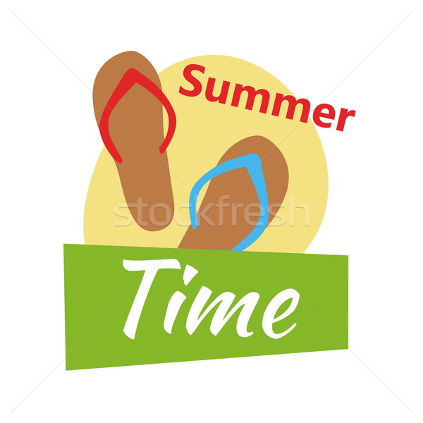 Summer Vacation on Tropical Beach Illustration Stock photo © robuart