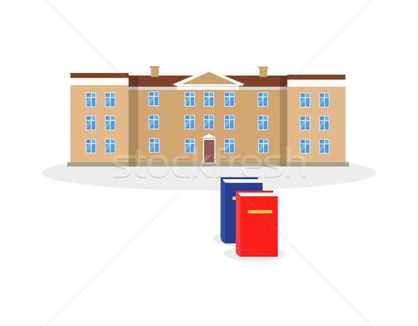 Kolegium budynku książki projektu architektoniczny edukacji Zdjęcia stock © robuart