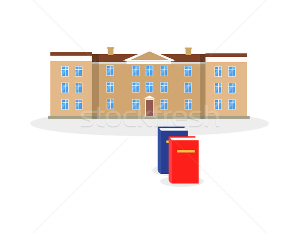 Kolej Bina kitap dizayn mimari eğitim Stok fotoğraf © robuart