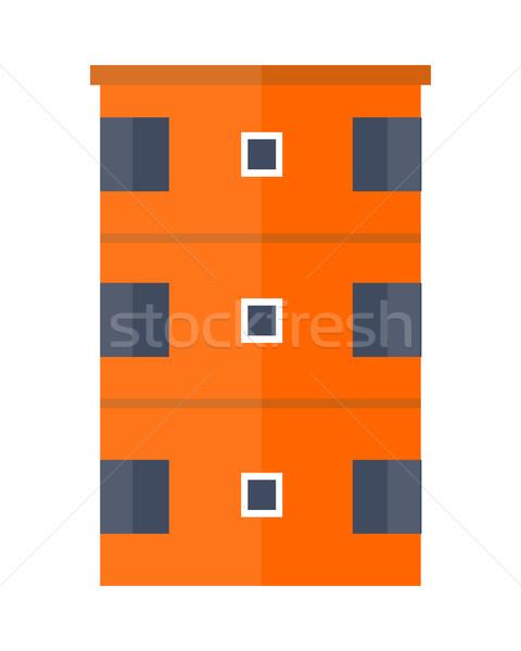 現代 アパート オレンジ アーキテクチャ アパート アイコン ストックフォト © robuart