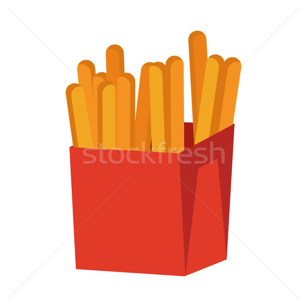 French Fries Isolated on White. Crispy Potatoes Stock photo © robuart