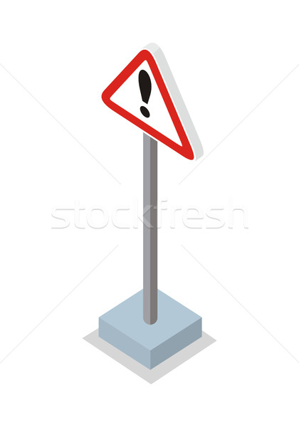 Exclamation Mark Road Sign Vector Illustration.   Stock photo © robuart