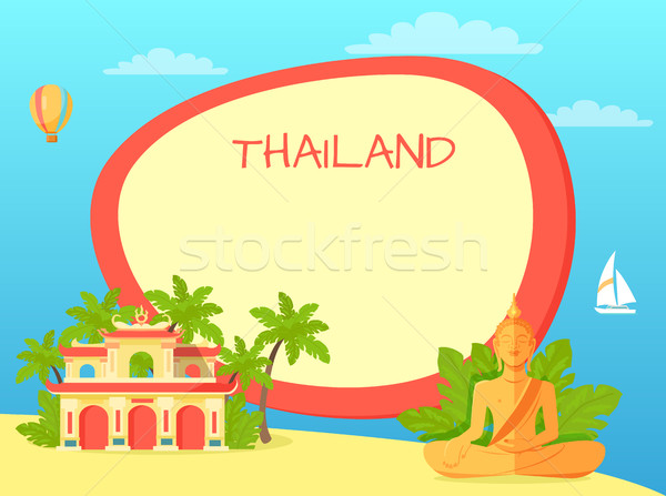 Thailand Touristic Vector Concept with Copyspace Stock photo © robuart