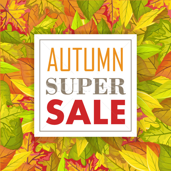 Autumn Super Sale Banner. Fall Background. Vector Stock photo © robuart