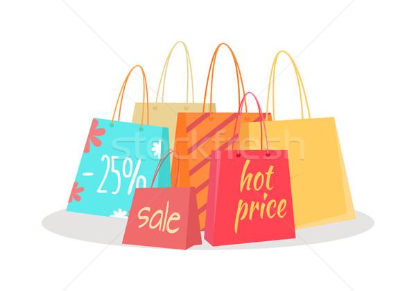 Set testo vendita percentuale prezzo Foto d'archivio © robuart