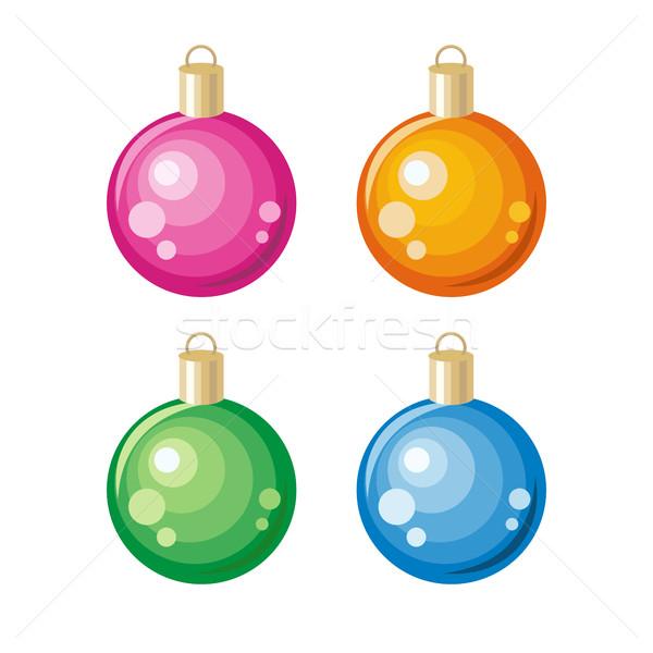 Set of New Year Toys Christmas Ornament Decoration Stock photo © robuart