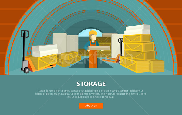 Storage Conceptual Vector Web Banner in Flat Style Stock photo © robuart