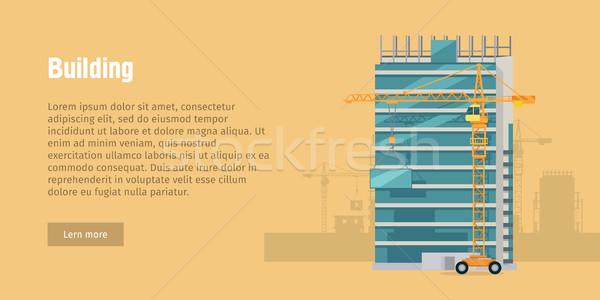 Bâtiment nouvelle contemporain verre maison Photo stock © robuart