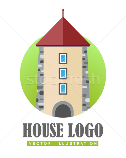 House Logo Vector Illustration Web Button Icon Stock photo © robuart