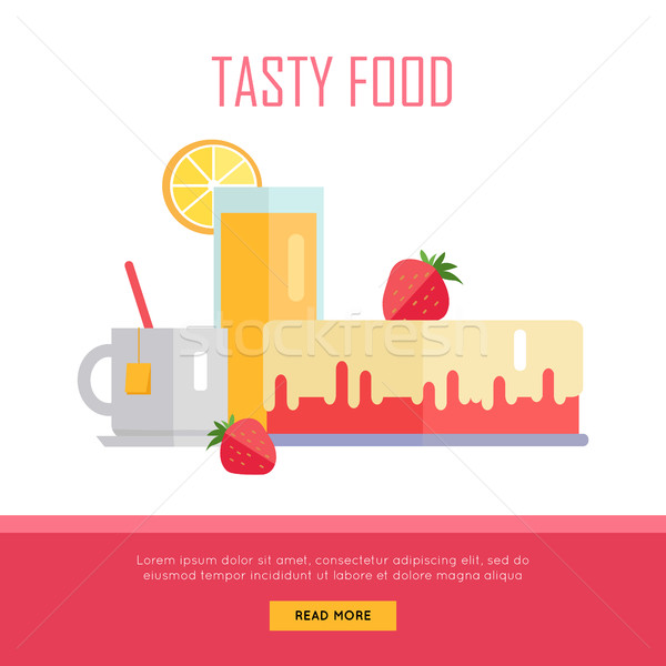 Tasty Food Concept Web Banner Illustration. Stock photo © robuart