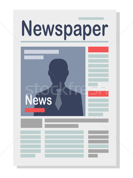 Paper Newspaper Isolated Illustration on White Stock photo © robuart