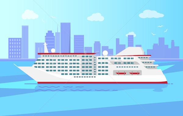 Ruim luxe cruise groot Rood stoomboot Stockfoto © robuart