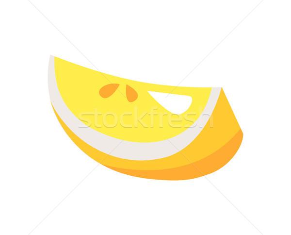 Foto d'archivio: Limone · pezzo · bianco · isolato · agrumi