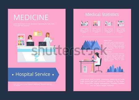 Surgery Care Medical Service Vector Illustration Stock photo © robuart