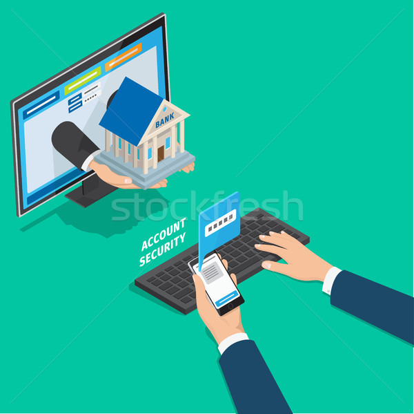 Online Banking Service Account Security Concept Stock photo © robuart