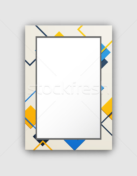 Frame of Light Colors Squares Vector Illustration Stock photo © robuart