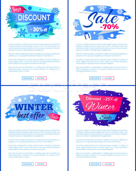 Big Winter Sale Discount Off New Offer Posters Set Stock photo © robuart