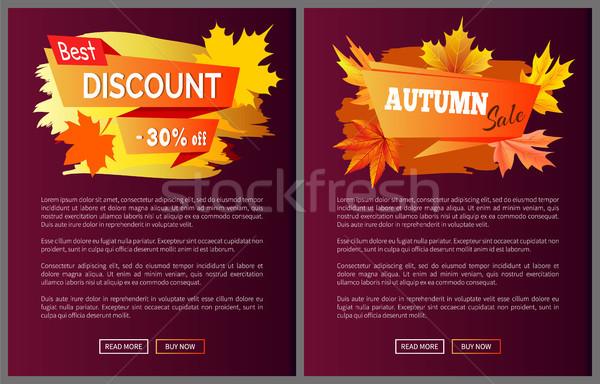 Ofrecer especial precio invitación otono grande Foto stock © robuart