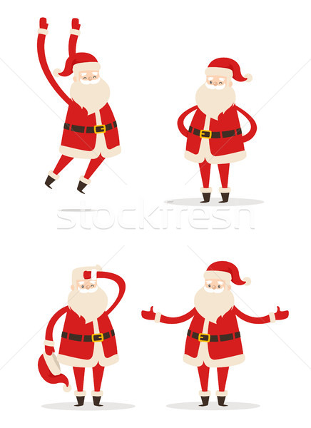 Santa Christmas Collection Vector Illustration Stock photo © robuart