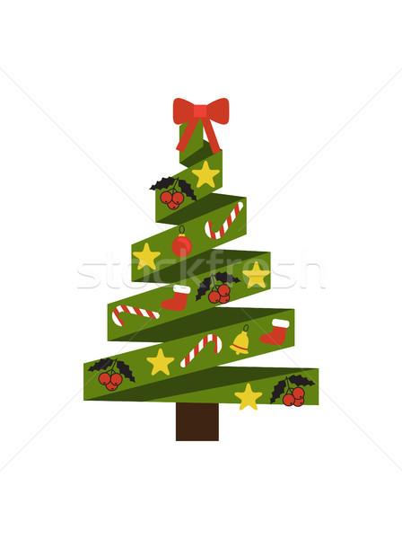 Stok fotoğraf: Noel · ağacı · dekorasyon · elemanları · Yıldız