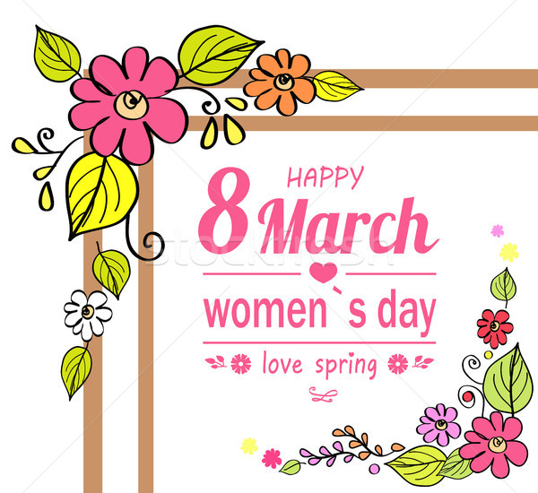 Happy Womens Day 8 March, Vector Illustration Stock photo © robuart