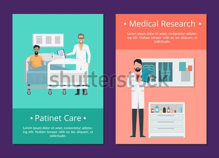 Healthcare Medical Examination Vector Illustration Stock photo © robuart