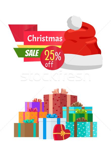 25 natal venda emblema papai noel Foto stock © robuart