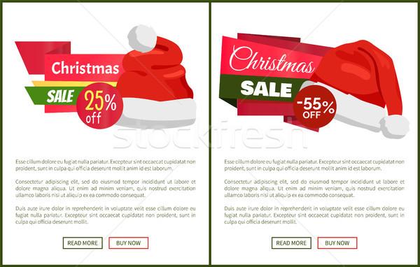 Kerstman hoeden promo kerstmis Stockfoto © robuart