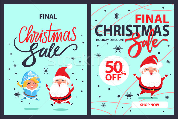 Final Christmas Sale Goliday Discounts 50 Off Set Stock photo © robuart