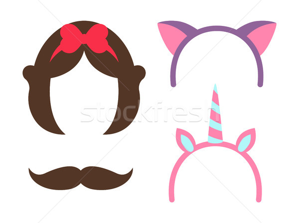 Princess Party Icon Collection Vector Illustration Stock photo © robuart