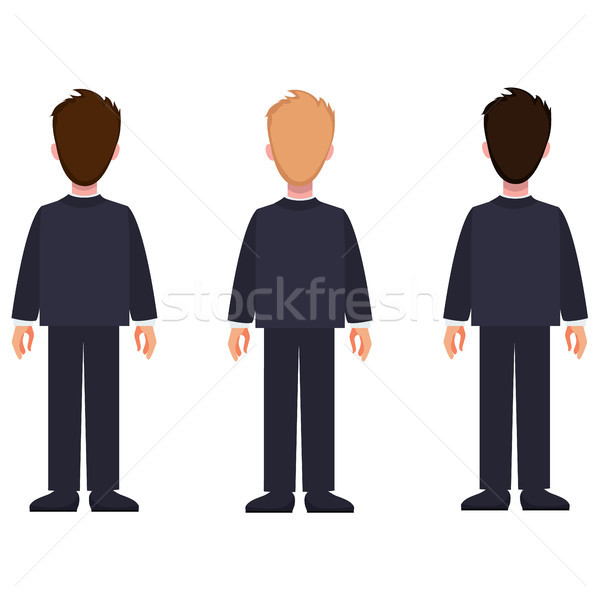 Man Constructor Set of Cartoon Characters in Suit Stock photo © robuart