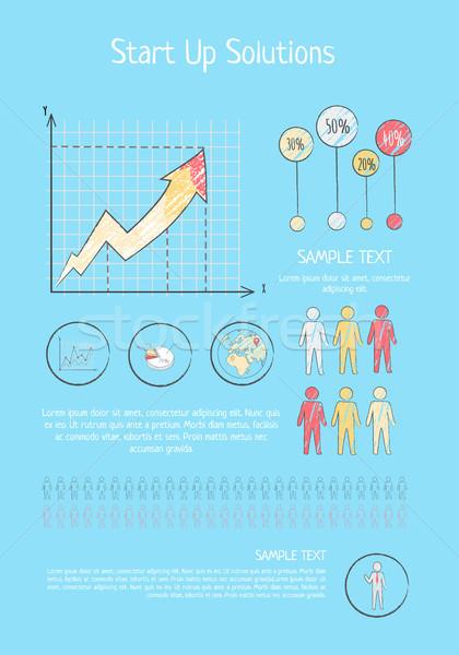 スタートアップ ソリューション 考え ビジネス プレゼンテーション カラフル ストックフォト © robuart