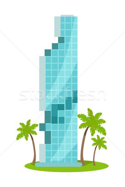 Skyscraper Vector Illustration In Flat Design Stock photo © robuart