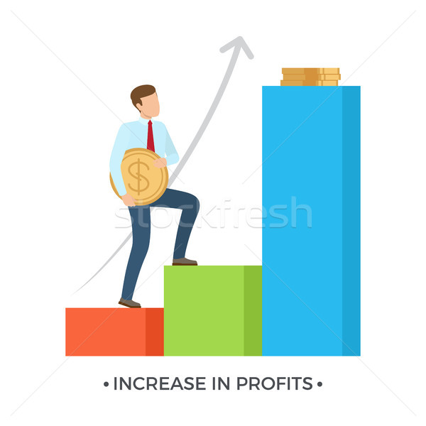 Increase in Profits on Vector Illustration White Stock photo © robuart